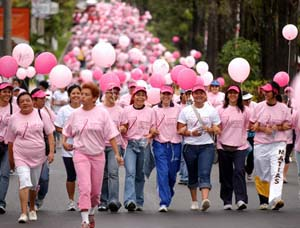 Марш «Вместе против рака груди» в Сальвадоре